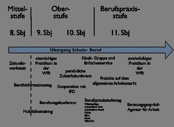 Schaubild Übergang Schule - Beruf